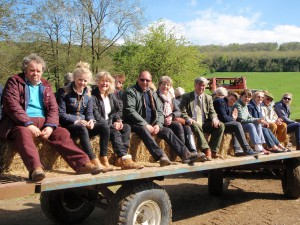 Members on an AGM trailer ride